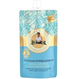 100% Natural Blue Cleansing Facial Mask w/Cornflower Water, Agafya's Bathhouse, 3.38 oz/ 100 Ml