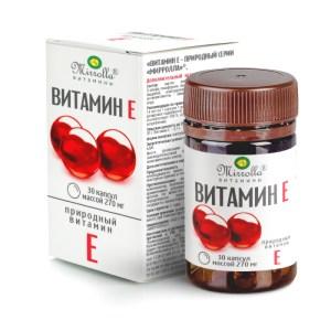 Vitamin E, Mirrolla, 30 capsules of 270 mg