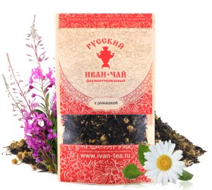 Ivan-Tea Fireweed Black Fermented Small-Leaf w/ Chamomile Leaf, Doypack Zip Lock, 50 g/ 0.11 lb