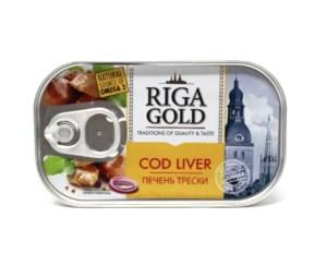 Cod Liver in Own Oil, Riga Gold, 4.27oz/ 121g