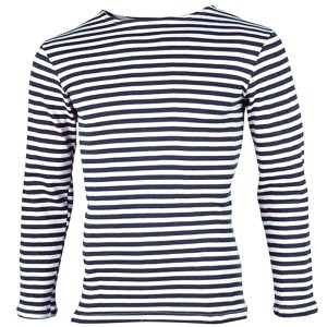 Fleece Long Sleeve Russian Navy Telnyashka Shirt, size 56-58 (European XL)