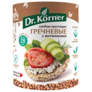 Buckwheat Crispbread with Vitamins, 3.5 oz / 100 g (Dr.Korner)