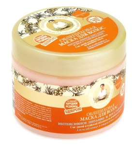 Hair Mask Sea Buckthorn Intensive Nutrition and Recovery, Recipes of Grandma Agafya, 10.14 oz /300 ml