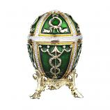 "Faberge Style Easter Egg Trinket Box with Arrows GREEN, 2.5"" (HJD0899A-4)"