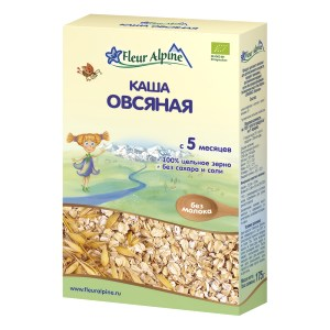 Organic Baby Cereal Oatmeal NO Milk (5 Months+), 6.17 oz / 175 g