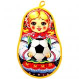 "2018 FIFA World Cup Matryoshka Pot Holder (girl), 11.5"" x 7.5"""
