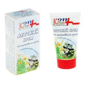 Kids Cream for Daily Use w/ Streak and Chamomile, 911 Kids, 5.06 oz / 150 Ml