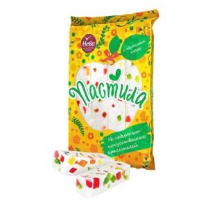 Pastila w/ Apple Puree and Pieces of Marmalade, Neva, 0.49 lb/ 220g