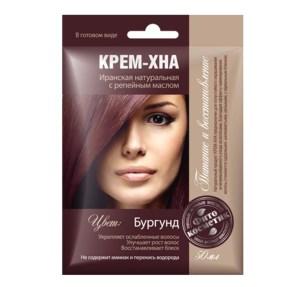 Ready-to-Use Henna Cream with Burdock Oil. Burgundy Shade, 1.77 oz / 50 ml