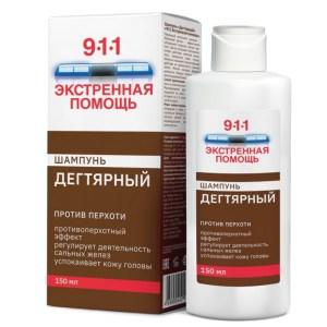 Shampoo Tar dandruff shampoo 911, 5.07 oz/ 150 Ml