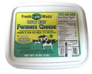 Low Fat Farmer Cheese, 1 lb / 0.45 kg