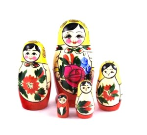 Semenovskaya Nesting Doll (BIG), 5 pcs