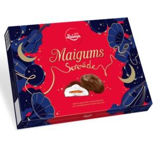 Marshmallows in Chocolate, Serenade, LAIMA MAIGUMS 185 gr/ 0,41 lb
