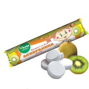Kiwi-Flavored Ascorbic Acid, FarmGroup, 10 tablets x 3 g
