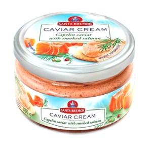 Santa Bremor Plain Caviar with Smoked Salmon, 6.35 oz / 180 g