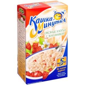 Oatmeal Porridge w/ Wild Strawberries, Minutka, 0.41 lb / 185g