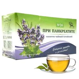 Herbal Tea No. 26 for Pancreatitis ( filter bags), Universal-Pharma, 25 g/ 0.055 lb