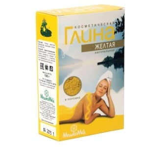 Cosmetic Yellow Clay, 3.52 oz/ 100 g