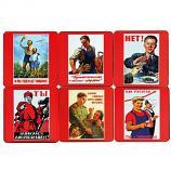 Soviet Poster Coasters, 6 pcs
