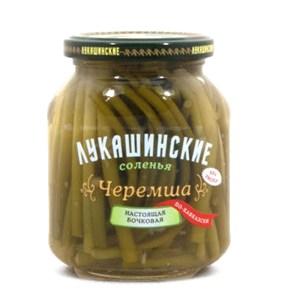 Pickled Wild Garlic, Lukashinskie, 12 oz /340 g