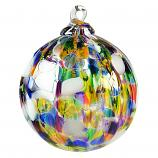 Christmas Striped Ornament Ball - Blizzard