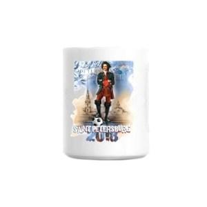 Peter the Great and FIFA 2018 Tea & Coffee Souvenir Mug, 3.75''