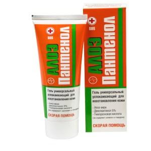 Aloe Vera Panthenol Gel Skin Restoration, 2.54 oz/ 75ml