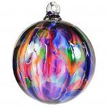 Christmas Striped Ornament Ball - Rainbow