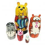 "Winnie the Pooh Nesting Doll Matryoshka, 4.5"" (5 pcs)"