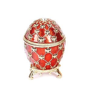 Easter Gift Ideas Coronation Egg with Clock (red), 2.75