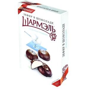 Chocolate Glazed Zefir Marshmallow Ice Cream Flavor, Sharmel, 8.82 oz / 250 g