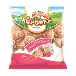 Gingerbread Korovka Raspberry and Cream Filling , 0.66 lb/ 300 g