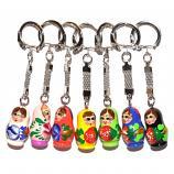 Mini Matryoshka Keychain, Height  1""