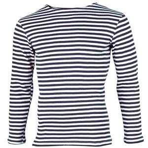 Fleece Long Sleeve Russian Navy Telnyashka Shirt, size 60-62 (European XXL)