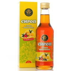 Lemon and Rosehip Syrup, Magiya Trav, 330 g/ 0.73 lb