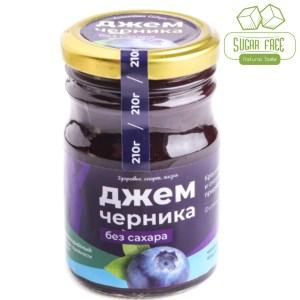 Blueberry Jam Sugar Free, Sunny Siberia, 210 g/ 0.46 lb