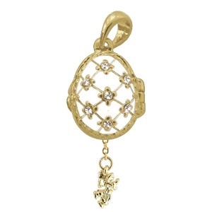 Locket Pendant Stars with Angel (white), 1