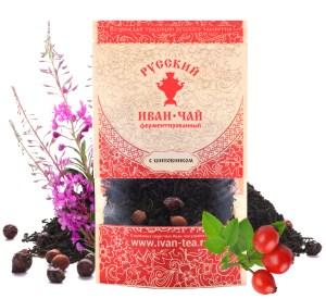 Ivan-Tea Fireweed Black Fermented Small-Leaf w/ Rosehip, Doypack Zip Lock, 50 g/ 0.11 lb
