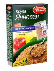 Uvelka Barley Groats 5x80 Boil-in-Bags, 14.10 oz / 400 g