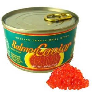 Salmon Caviar Russian Traditional, 7.05 oz / 200 g