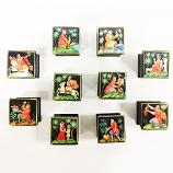 "Russian Folk Fairy Tales Miniature Lacquer Box, 1 pc, 1"" x 1"""