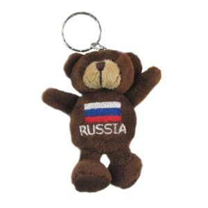 Key Chain Plush Bear with Russian Flag, 4