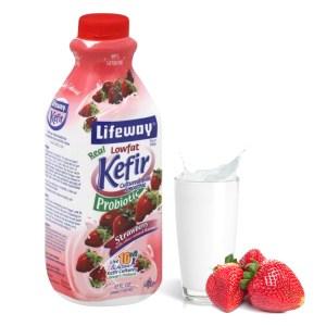 Lifeway Low Fat Kefir with Strawberry, 32 oz / 0.94 L