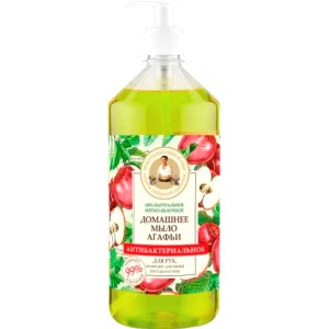Homemade Mint-Apple Antibacterial Soap, Recipes of Grandma Agafya, 1 liter/ 33.81 oz