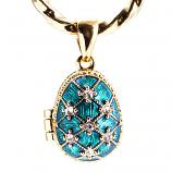 "Locket Pendant Stars with Angel (blue), 1"" (1214-2908)"