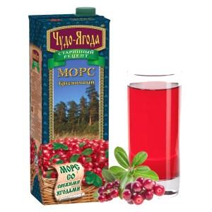Wonderberry Red Whortleberry Mors, 33.81 oz / 1 liter