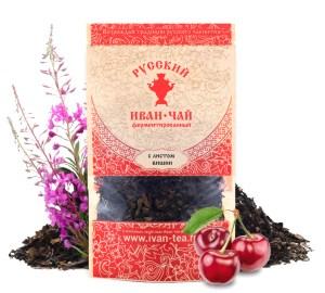 Ivan-Tea Fireweed Black Fermented Small-Leaf w/ Cherry Leaf, Doypack Zip Lock, 50 g/ 0.11 lb