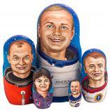 "USA NASA Astronauts Neil Armstrong Nesting Doll, 5 pcs, 8"""