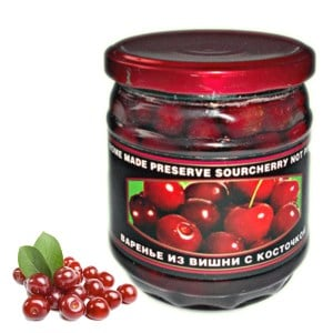 Homemade Preserve Sour Cherry not pitted, 17.63 oz / 500 g