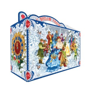 Sweet Christmas Gift Russian Candy, 12 Months, Cardboard Pack, 0.9 kg/ 2 lb